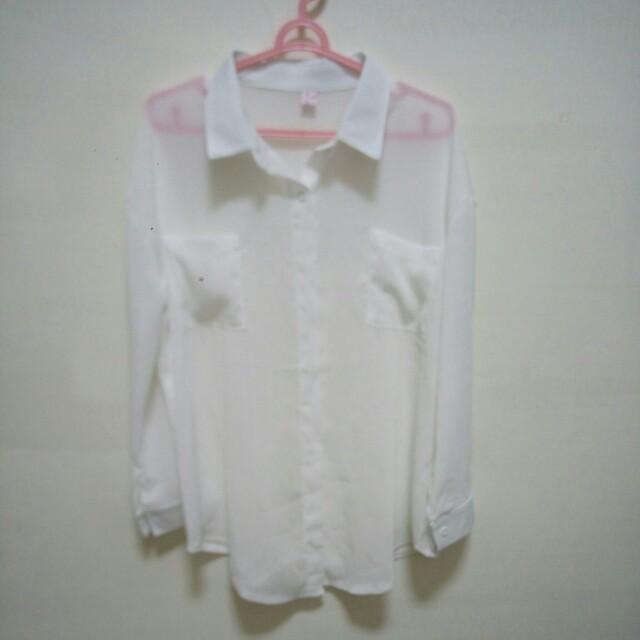 全新雪紡材質襯衫#舊愛換新歡#有超取最好買#好想找到對的人