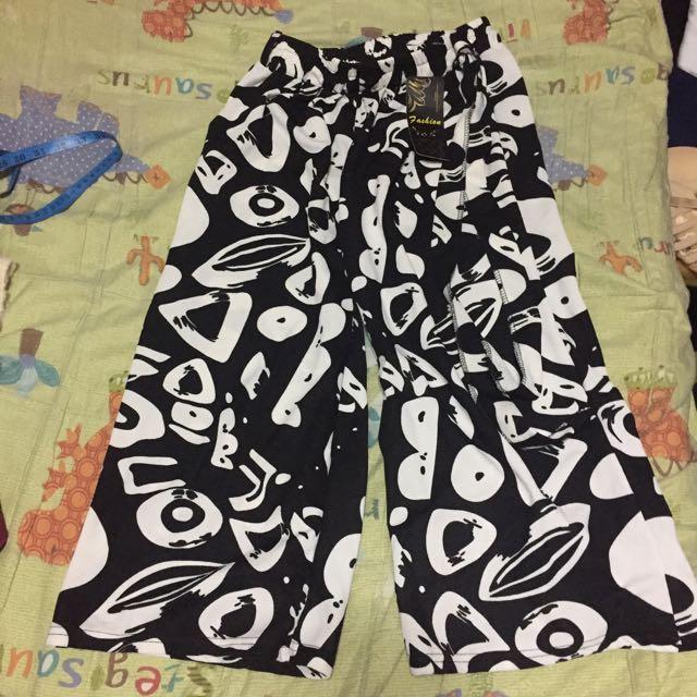 🔴私物🔴幾何圖案黑白配色長褲