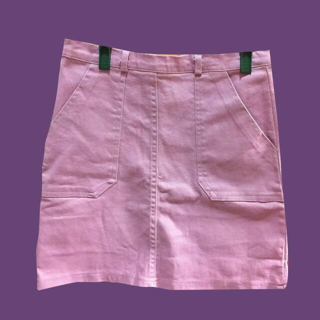 粉紫色 短裙