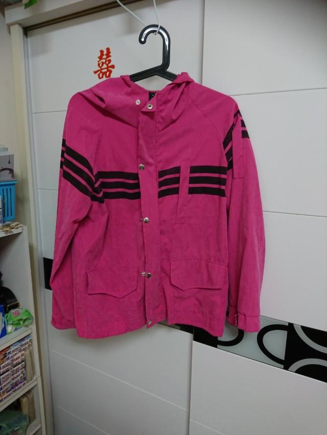 桃紅風衣外套  #好物免費送