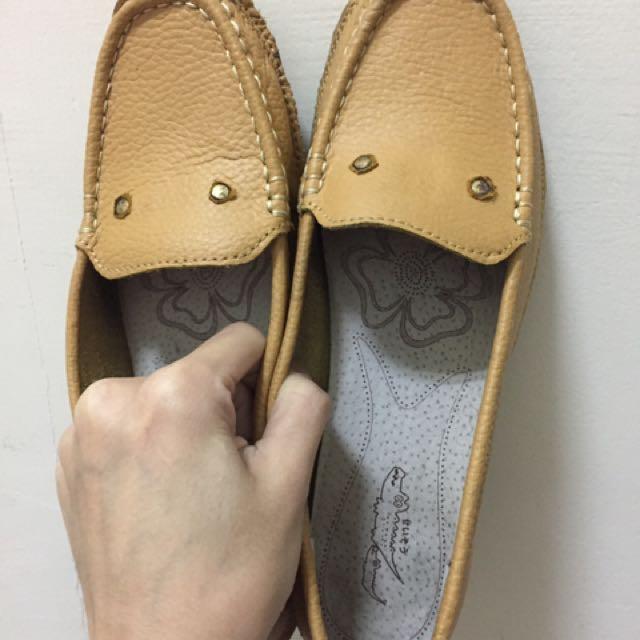 🤡(💁🏼 二手の 鞋子👟💁🏼)日系鵝黃色包鞋