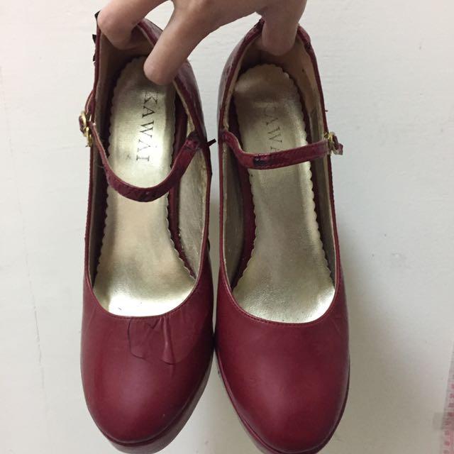 🤡(💁🏼 二手の 鞋子👟💁🏼)細長大紅性感高跟鞋👠