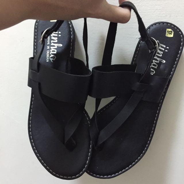 🤡(💁🏼 全新の 鞋子👟💁🏼)黑色羅馬涼鞋