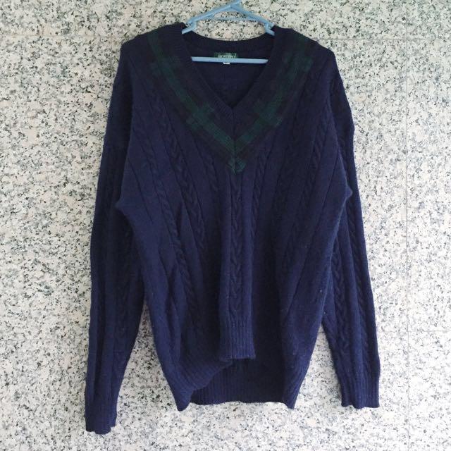 /古著降價/ - 厚磅立體織紋毛衣