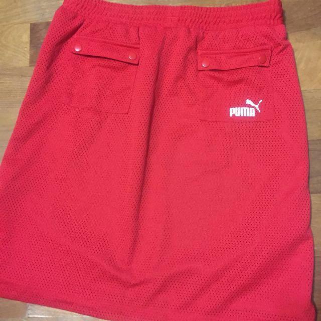 降價 Puma紅色休閒運動裙
