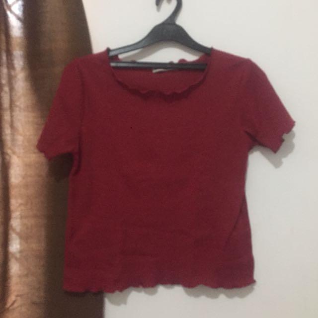 Ada woman red shirt