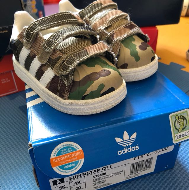 Adidas Superstar Toddler Size 5, Babies & Kids, Babies Apparel on Carousell
