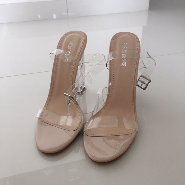 0cc286b3504 Alia Strappy Perspex High Heels in Clear Nude, Women's Fashion ...