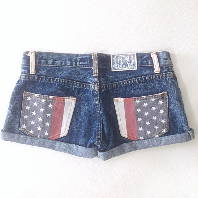 America Washed Dark Blue Jeans