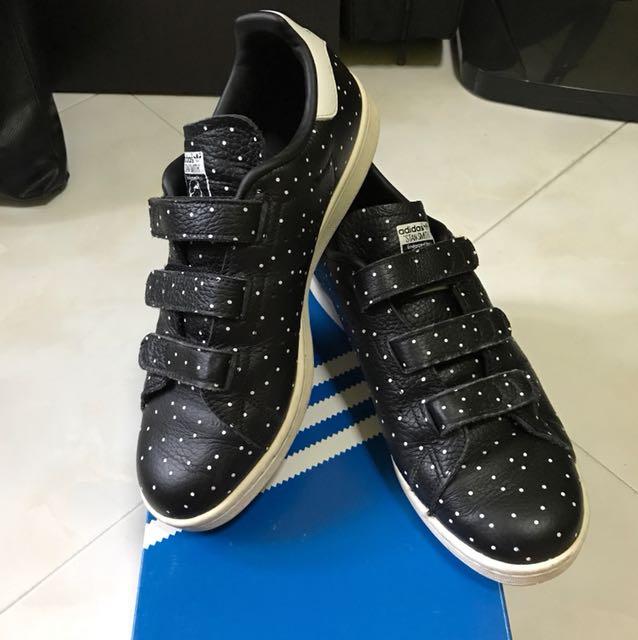 Authentic] Adidas Stan Smith CF W Black