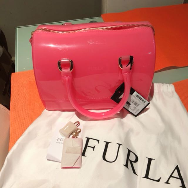 💯authentic Brand new furla candy satchel