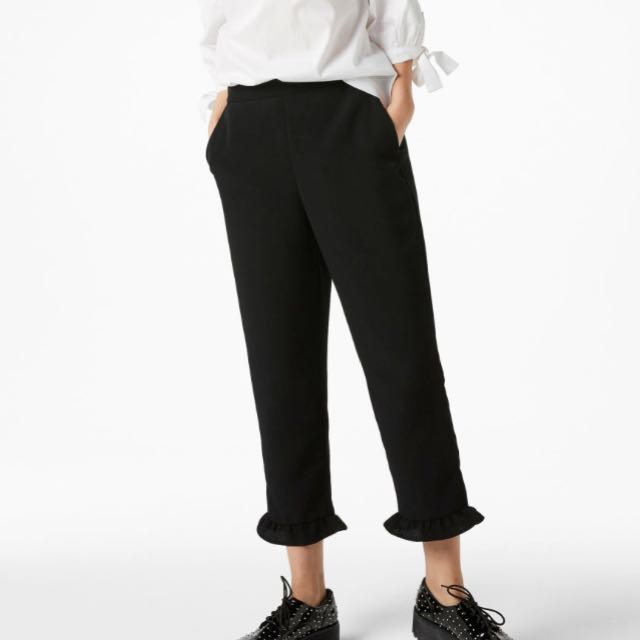 Authentic Monki Frill Ruffle Hem trousers pants