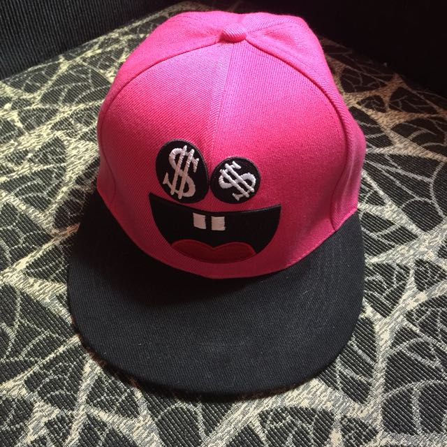 Authentic Penshoppe Emoticon Pink Bull Cap