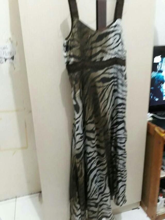 Baju terusan import motif zebra