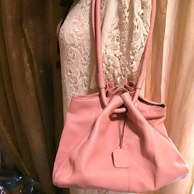 BALLY 粉紅色 真皮肩背包 ✳️低價出清