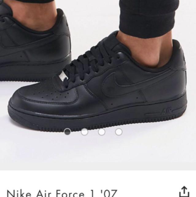 3c2bb1b926d8c Black Air Force 1, Women's Fashion, Shoes on Carousell
