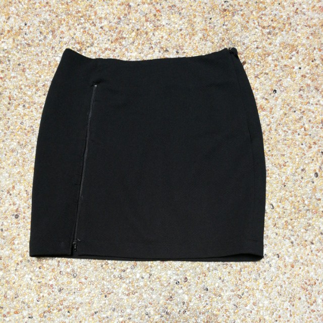 Black Bodycon Semi Formal Skirt