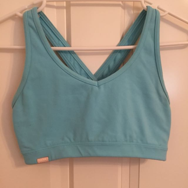 Bloch Blue Sport Crop Top Size S