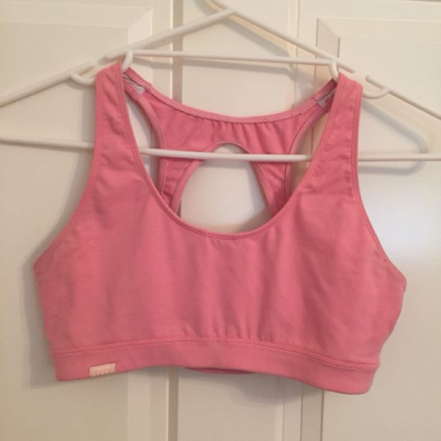 Bloch Pink Sport Crop Top Size S