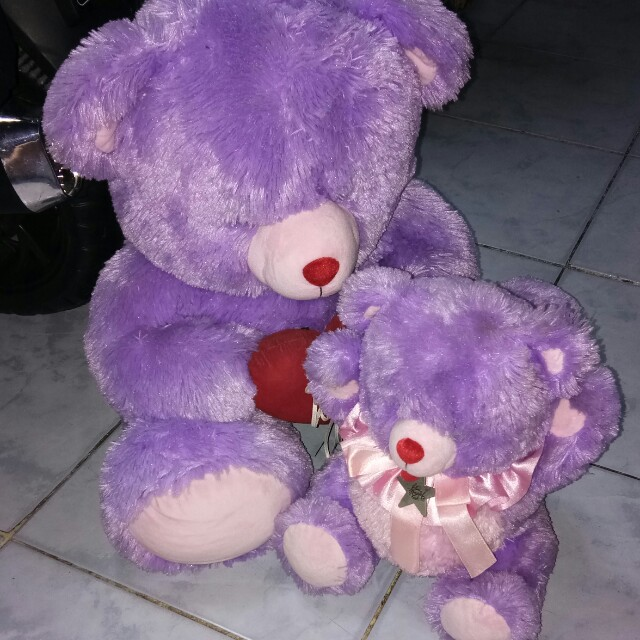 Blue magic couple purple teddy bear