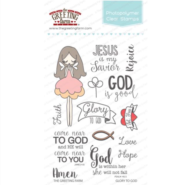 Bn the greeting farm glory to god clear stamps christian design photo photo photo m4hsunfo