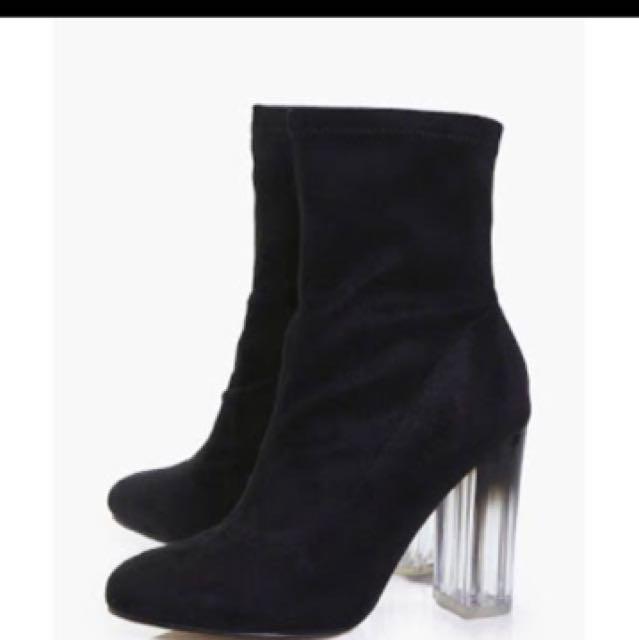 Boohoo neve sock boots size 6