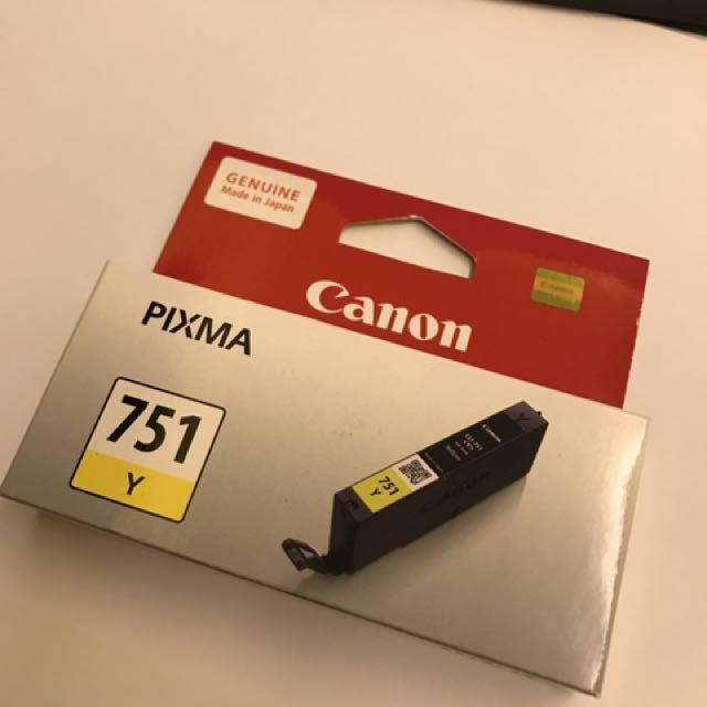 Canon Pixma Ink Catridge 751 Y
