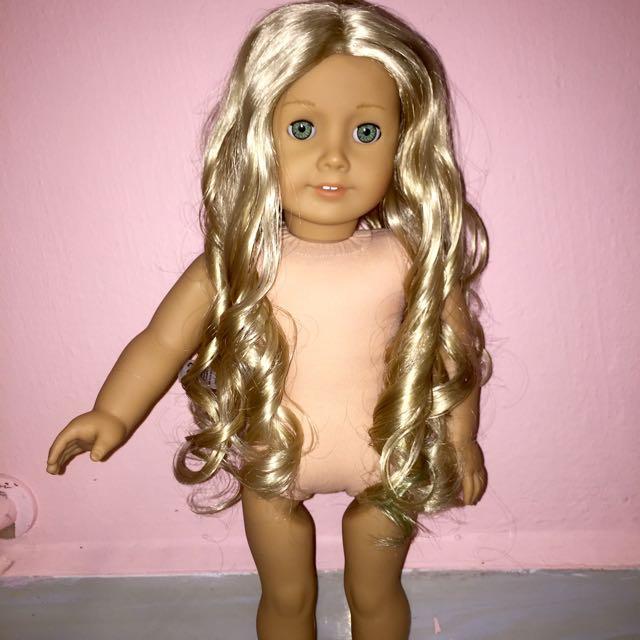 "American Girl CAROLINE 18/"" DOLL Meet Pink Dress ONLY Retired"