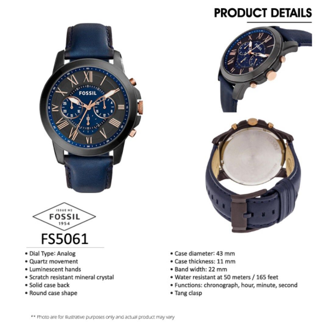 [Christmas Sales] 100% Authentic Fossil Watch with 2 Years Fossil Warranty, Men's