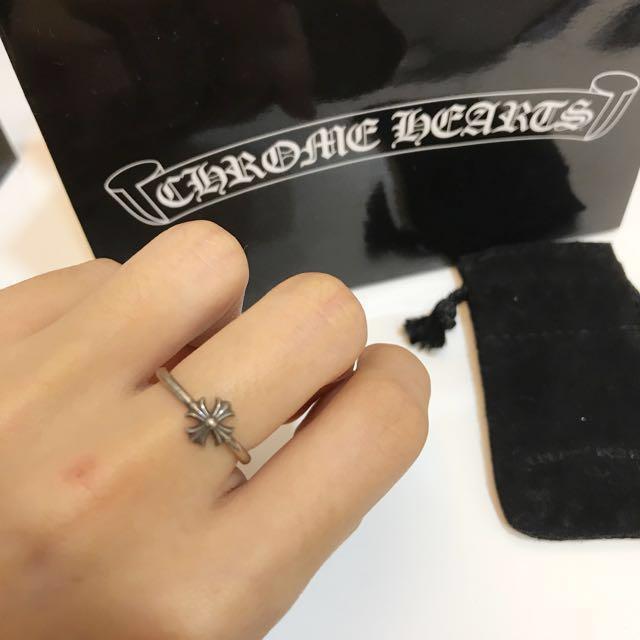 Chrome Hearts十字極細純銀戒指
