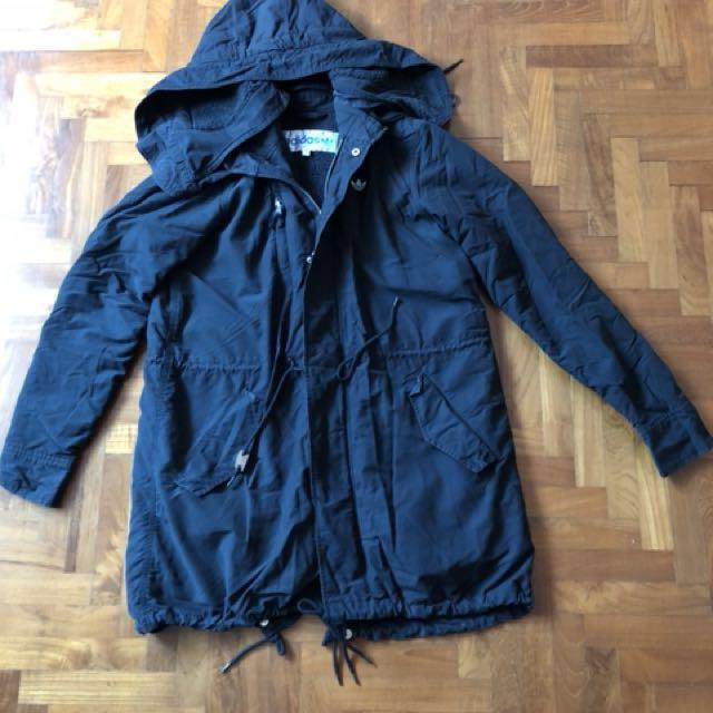 6b671786461c Classic Adidas Black Parka, Women's Fashion, Clothes, Outerwear on ...