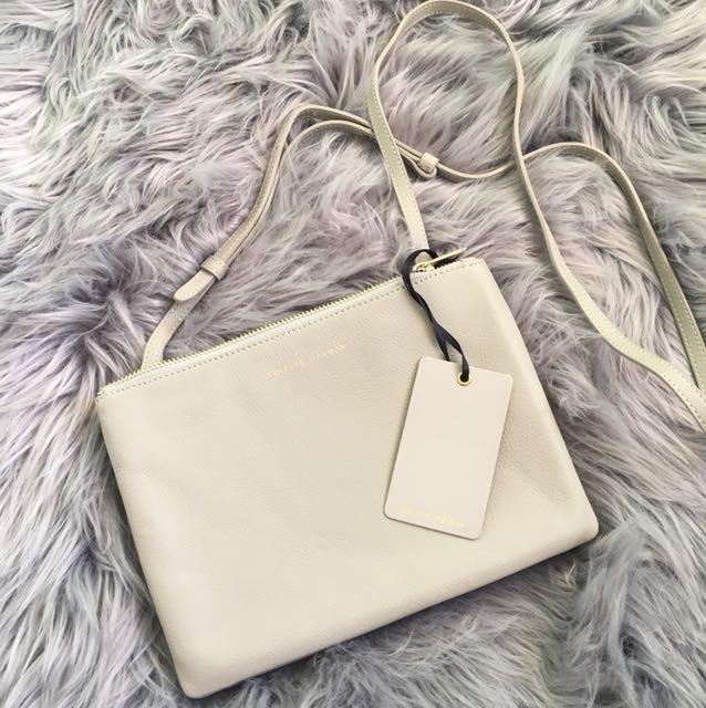 Colette leather side bag