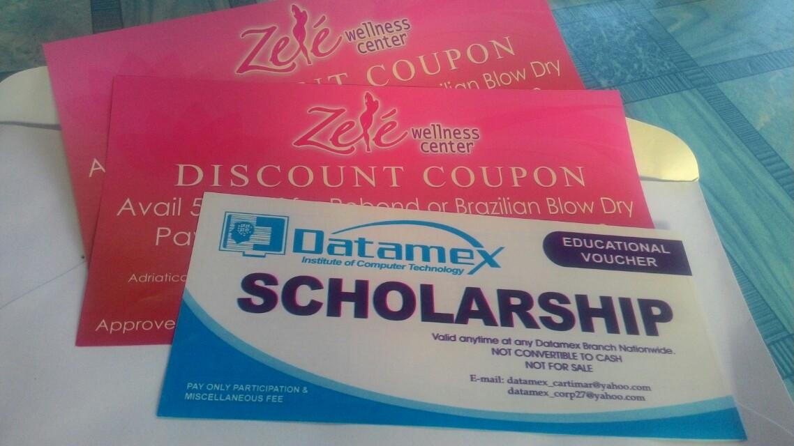 Datamex scholarship + 2 zele wellness center discount coupon