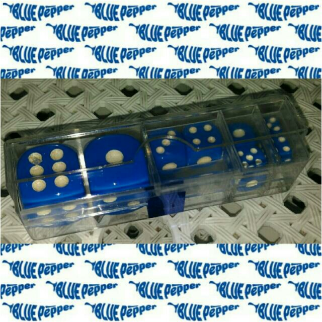 Dice 6-sided Set with Case (8pcs/case, assorted dice size) 🎲