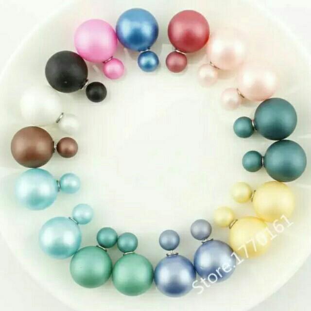 Dior Earrings Stud Navy💟