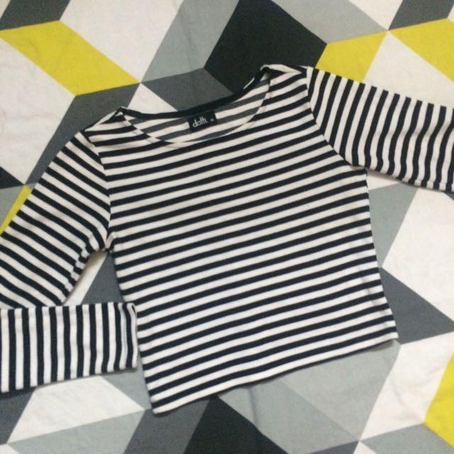 Dotti Stripes Crop Top