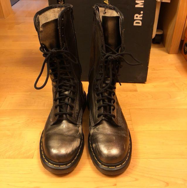 dr martens black silver \u003e Clearance shop
