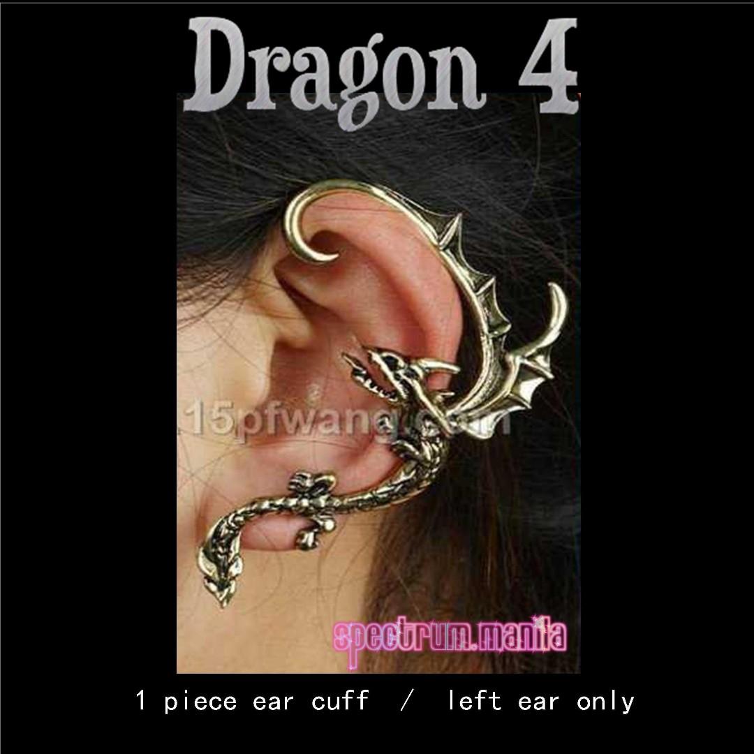 Dragon 4 Earcuff Earclip Earwrap Earclimber