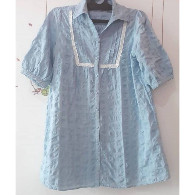 Dress soft blue