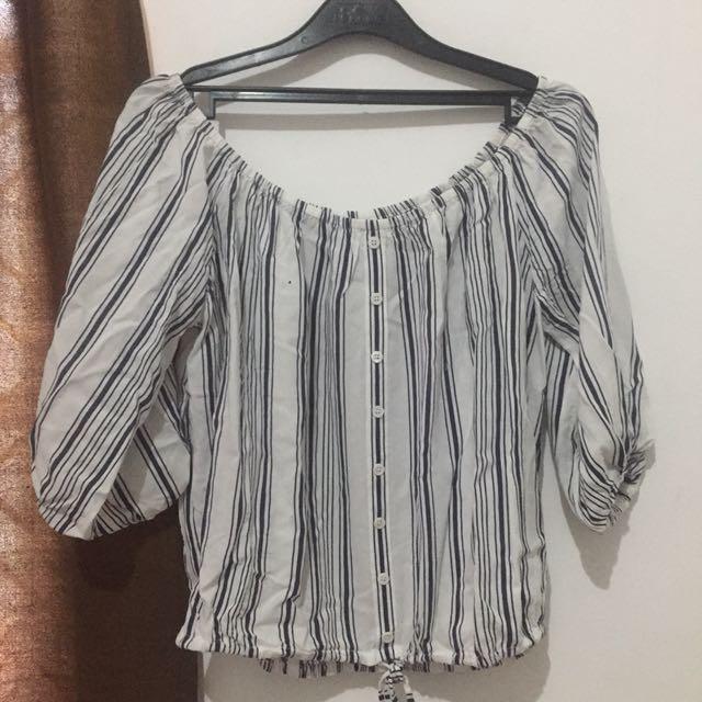 Forever 21 stripes sabtina shirt