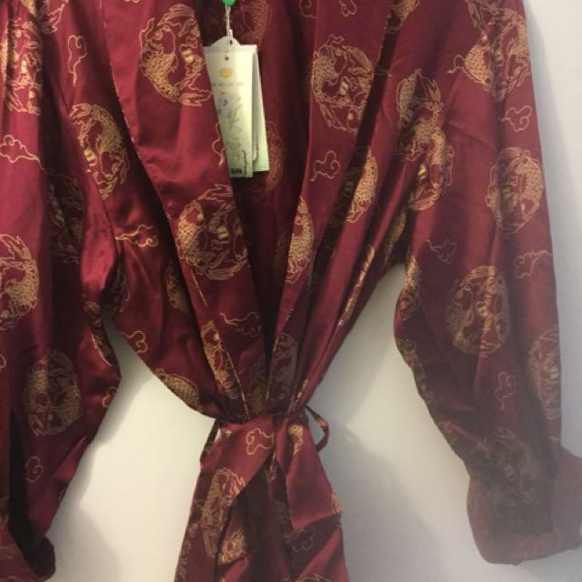 Full Length 100% Silk Robe(Brand New)