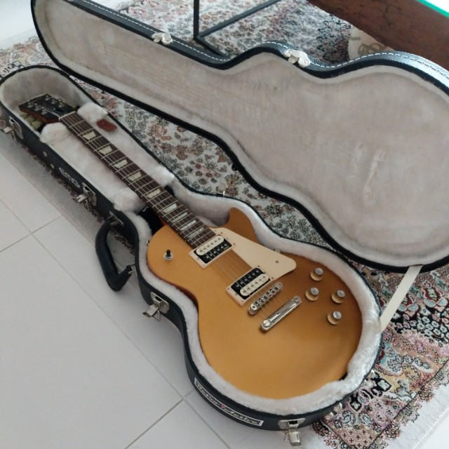 gibson les paul 2017 goldtop tribute with emgs fat 50s music media music instruments on. Black Bedroom Furniture Sets. Home Design Ideas