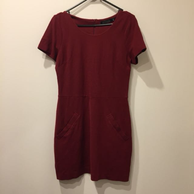 glassons maroon dress