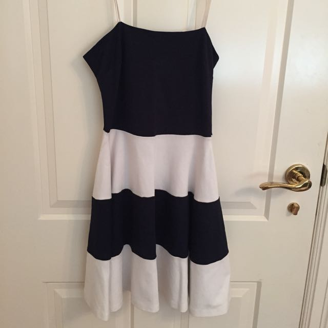 Gorgeous Blue/White Skater Dress