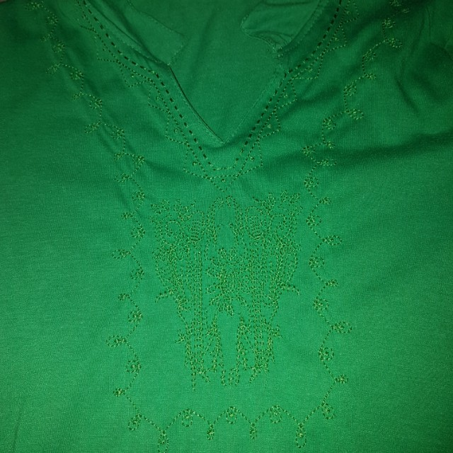 Green Chinese Like Blouse