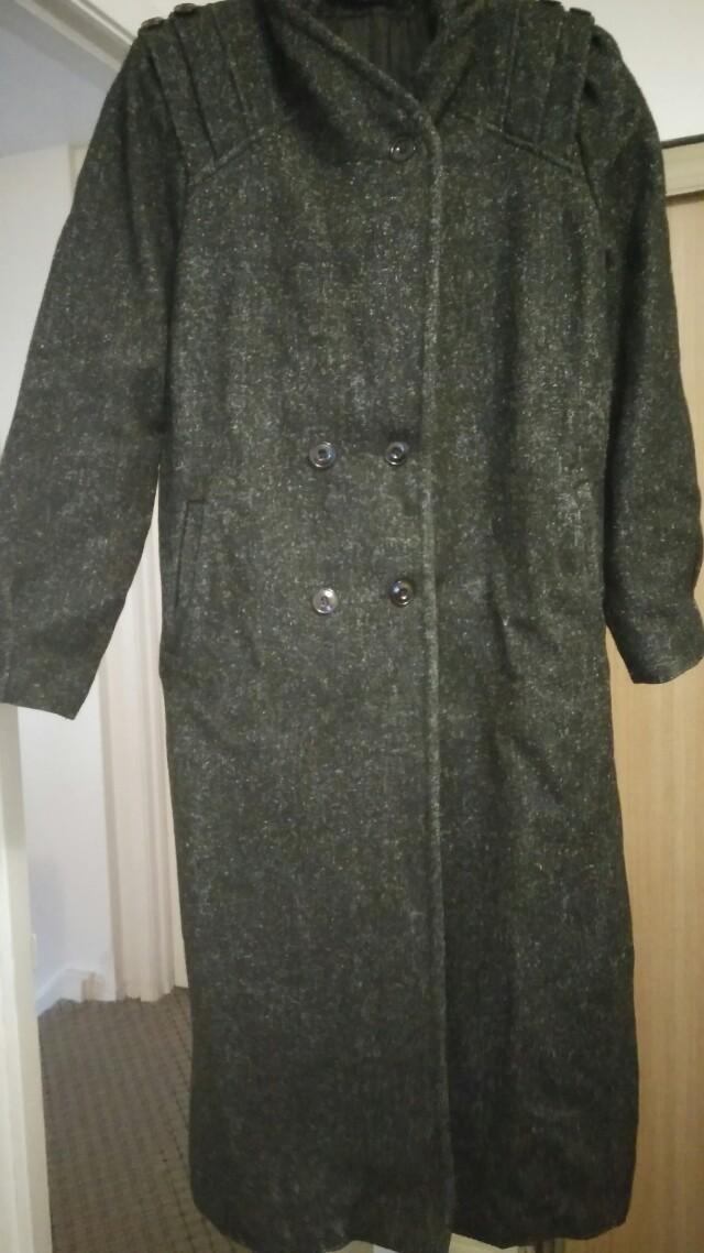 Grey/black wool coat