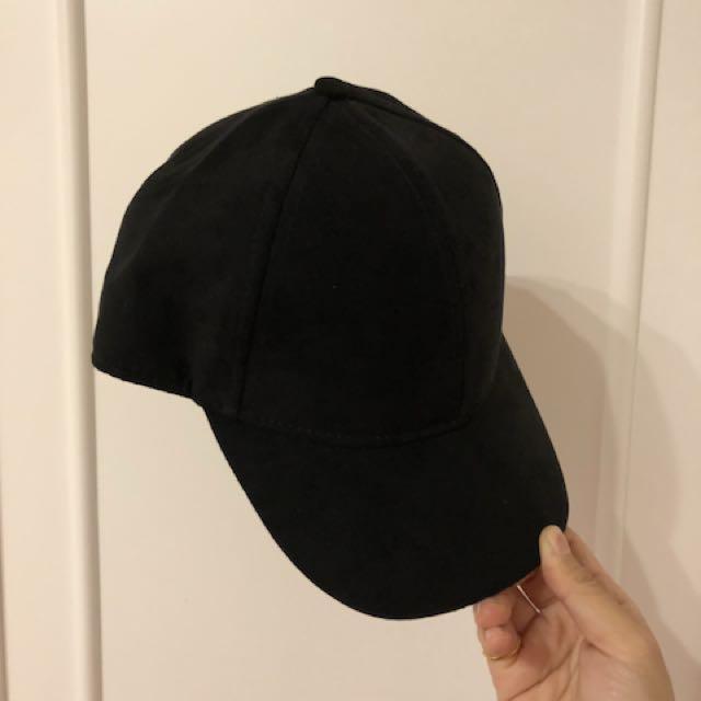 H&M鹿皮黑色老帽