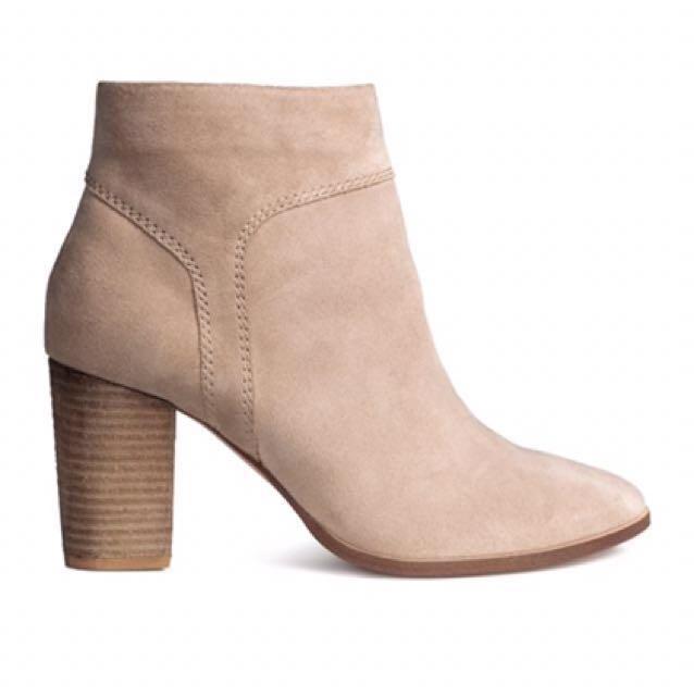 H&M Premium Genuine Suede Boots