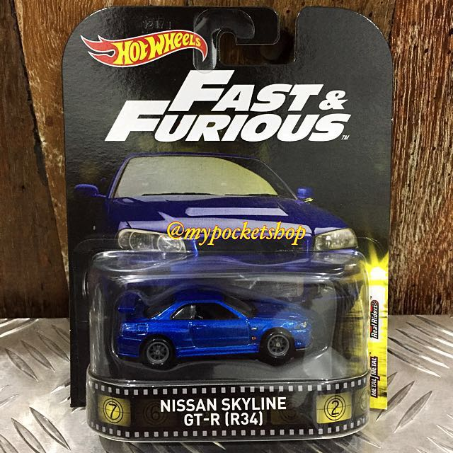 Hot Wheels Nissan Skyline Gt R R34 Real Riders Toys Games