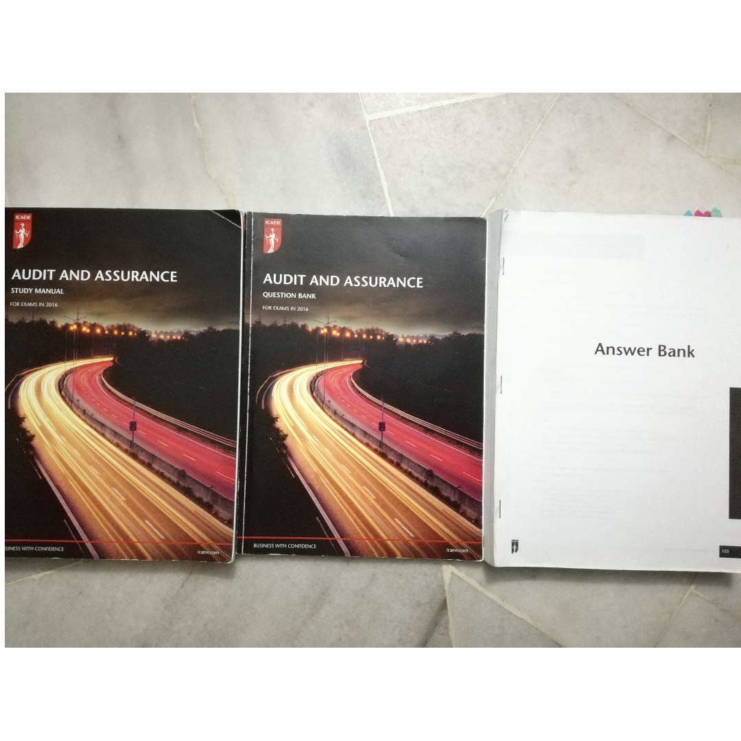 ICAEW ACA AA Audit and Assurance study manual, question bank, Books &  Stationery, Books on Carousell